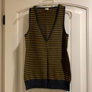J crew stripes sweater vest